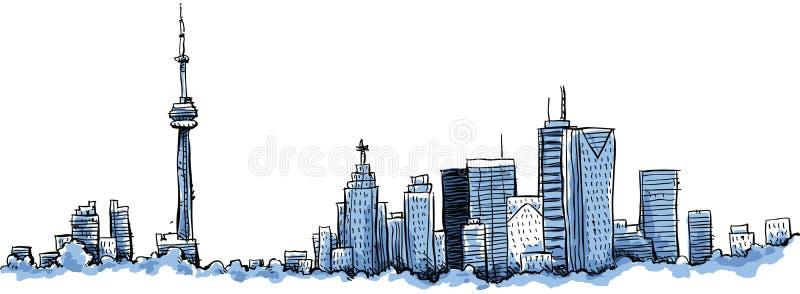 Beeldverhaal Toronto stock illustratie