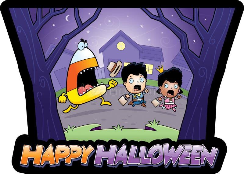 Beeldverhaal truc-of-Traktatie Halloween vector illustratie