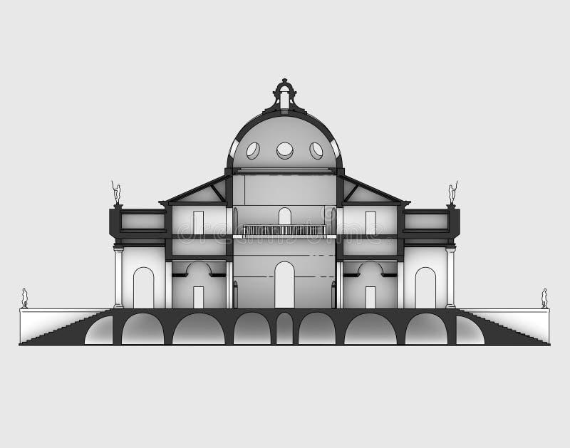 Beeldverhaal van de Rotonda het verticale sectie royalty-vrije illustratie