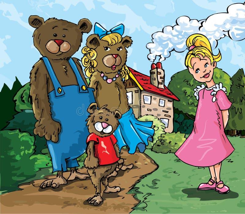 Beeldverhaal van Goldilockes vector illustratie