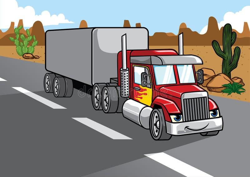 Beeldverhaal van grote vrachtwagen vector illustratie