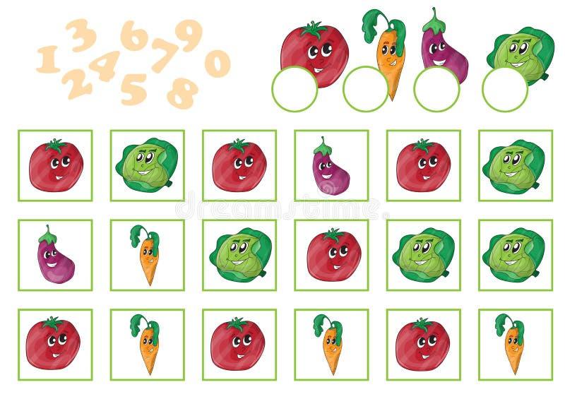 Beeldverhaal Vectorillustratie van Onderwijs Tellend Spel vector illustratie