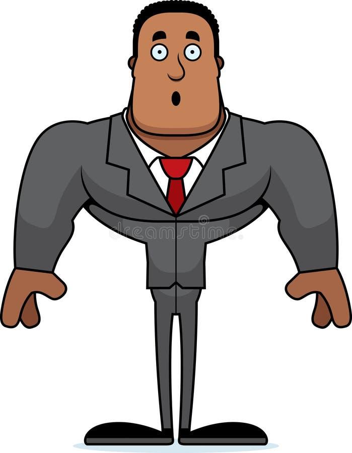 Beeldverhaal Verraste Businessperson vector illustratie