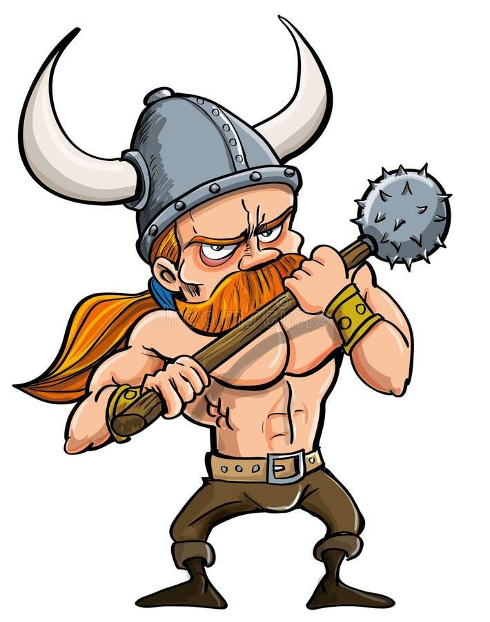Beeldverhaal Viking royalty-vrije illustratie