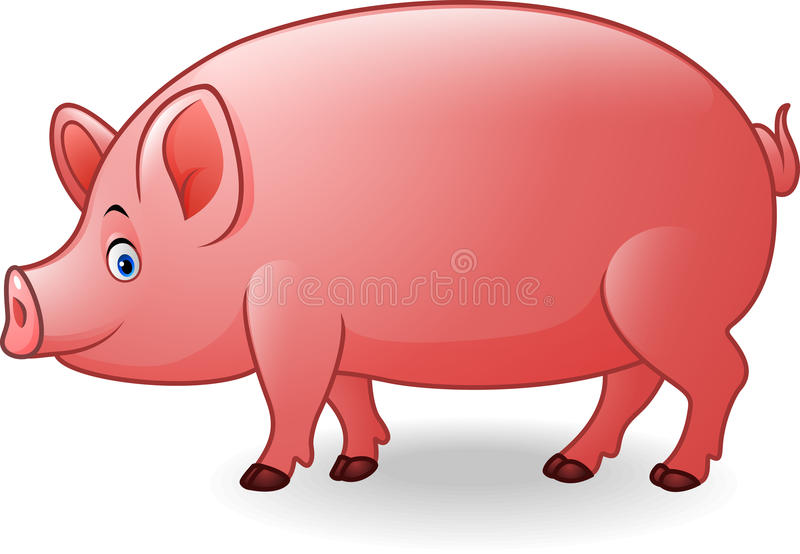 Beeldverhaal volwassen varken vector illustratie