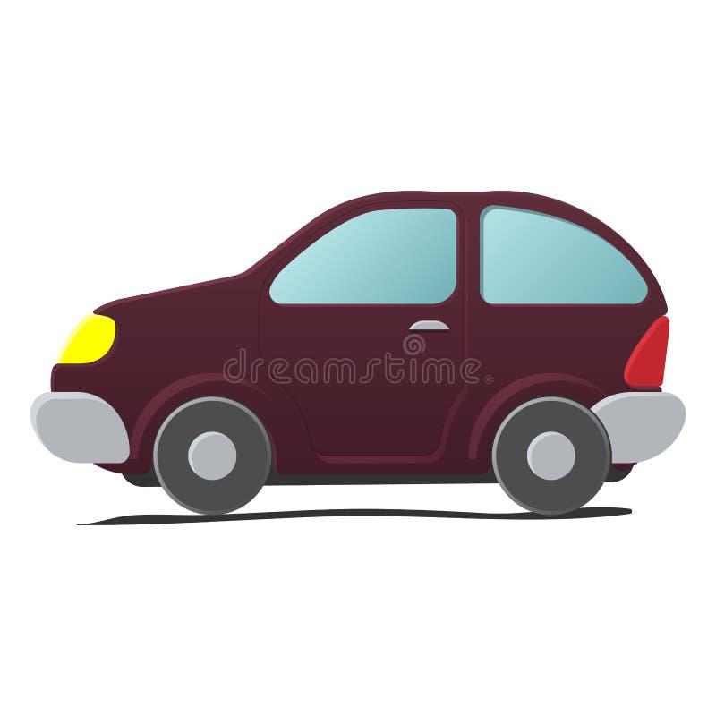 Beeldverhaal weinig auto royalty-vrije illustratie
