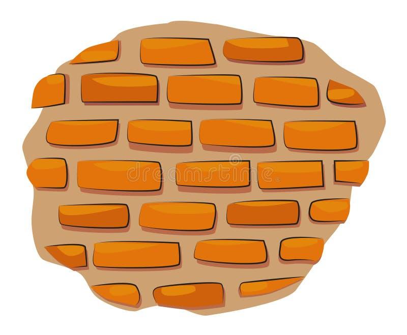 Beeldverhaalbeeld van Muurpictogram Het symbool van de muurbaksteen stock illustratie