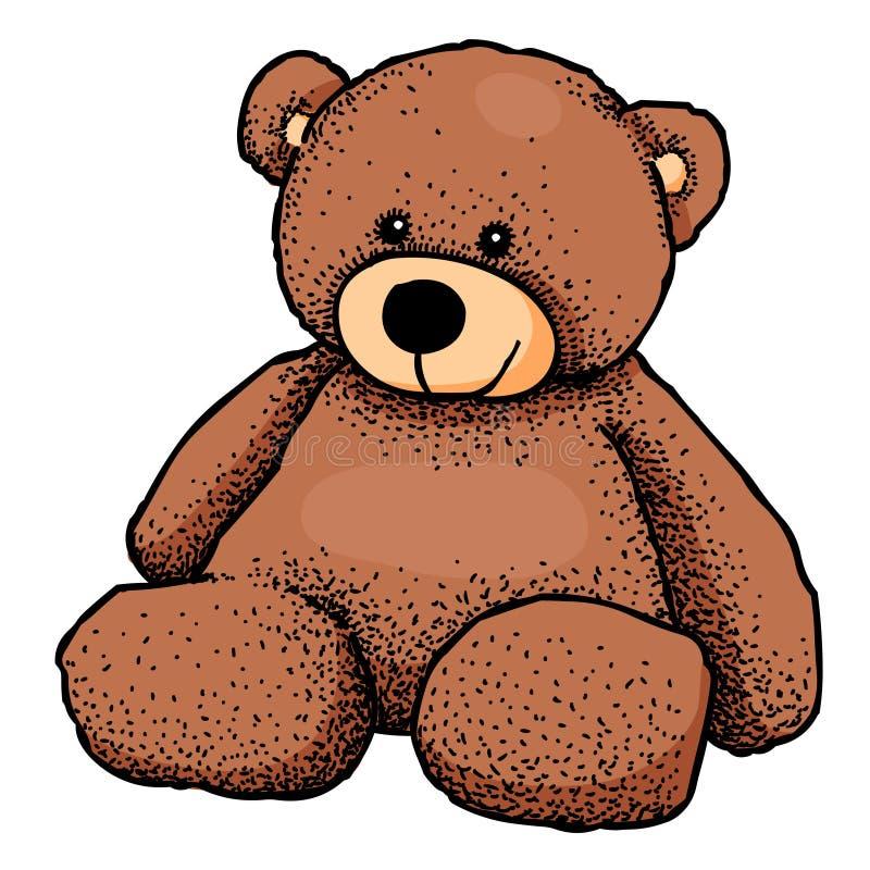 Beeldverhaalbeeld van teddybeer royalty-vrije illustratie