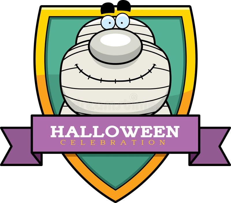 Beeldverhaalbrij Grafisch Halloween royalty-vrije illustratie