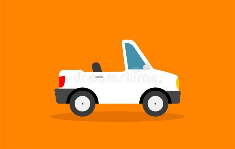 Beeldverhaalcabriolet Auto in vlakke Stijl royalty-vrije illustratie