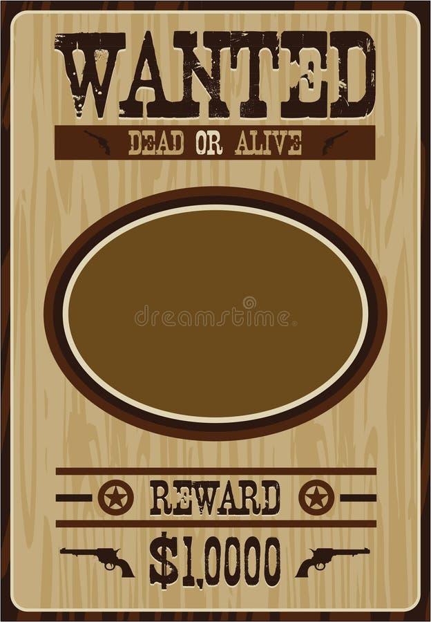 Beeldverhaalcowboy Poster stock illustratie