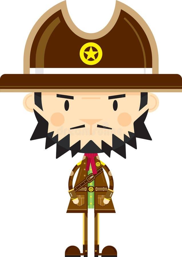 Beeldverhaalcowboy Sheriff vector illustratie