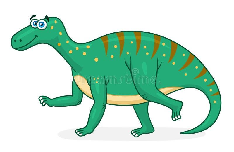 Beeldverhaaldinosaurus iguanodon vector illustratie
