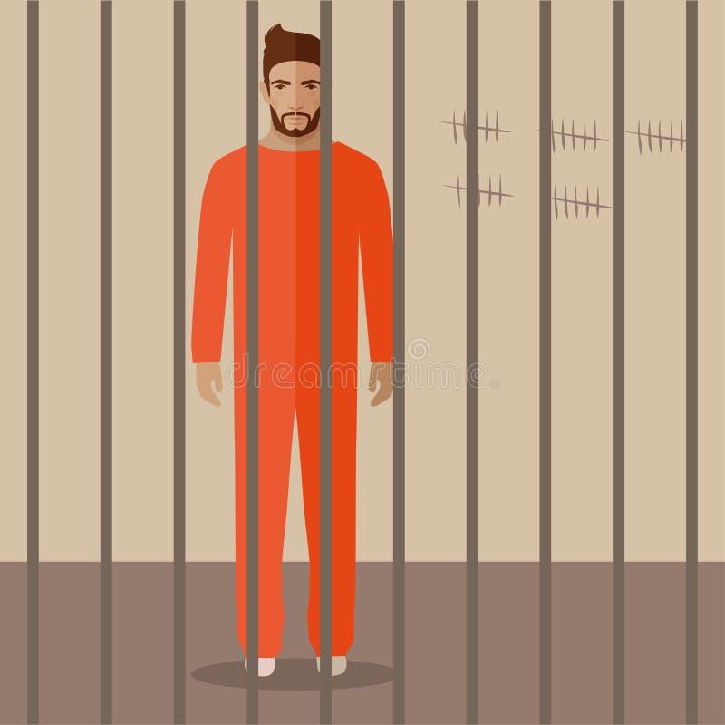 Beeldverhaalgevangene vector illustratie