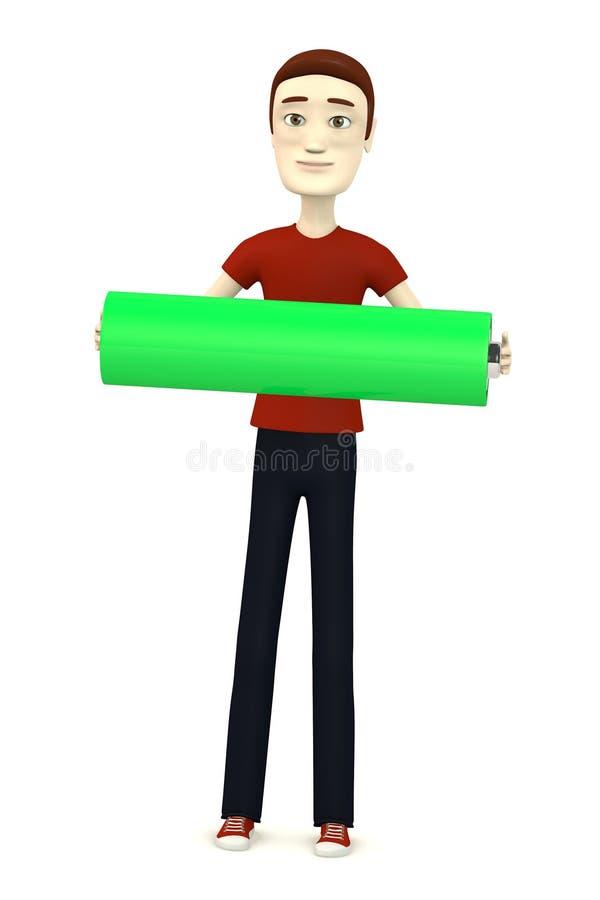 Download Beeldverhaaljongen Met Batterij Stock Illustratie - Illustratie bestaande uit batterij, karakter: 29504818