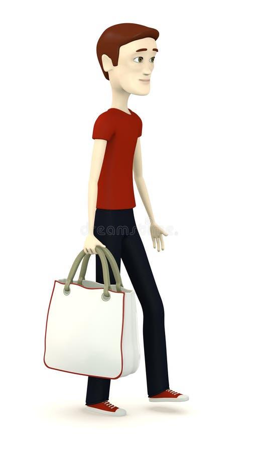 Download Beeldverhaaljongen Met Het Winkelen Zak Stock Illustratie - Illustratie bestaande uit kleren, beeldverhaal: 29504810