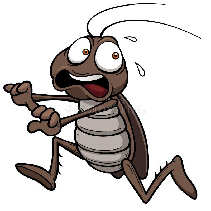 Beeldverhaalkakkerlak vector illustratie