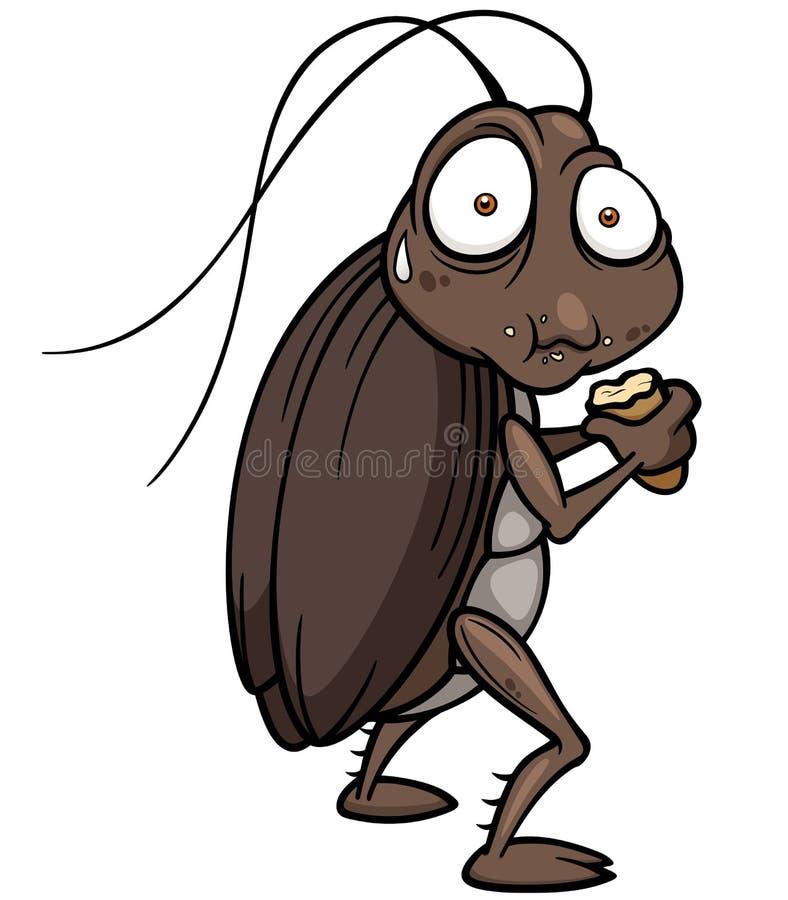 Beeldverhaalkakkerlak royalty-vrije illustratie