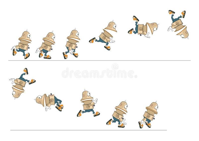 Beeldverhaalkarakter van een Leuke Robot voor een Computerspel vector illustratie