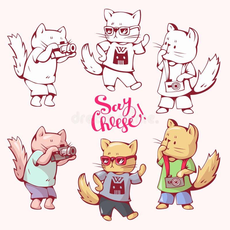 Beeldverhaalkatten vector illustratie