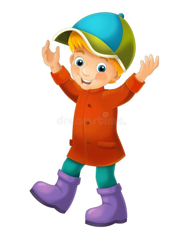 Beeldverhaalkind - illustratie voor de kinderen stock illustratie