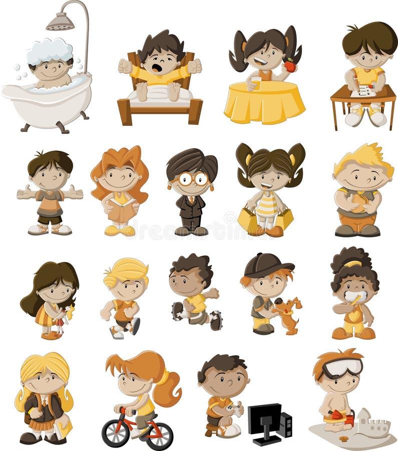Beeldverhaalkinderen vector illustratie