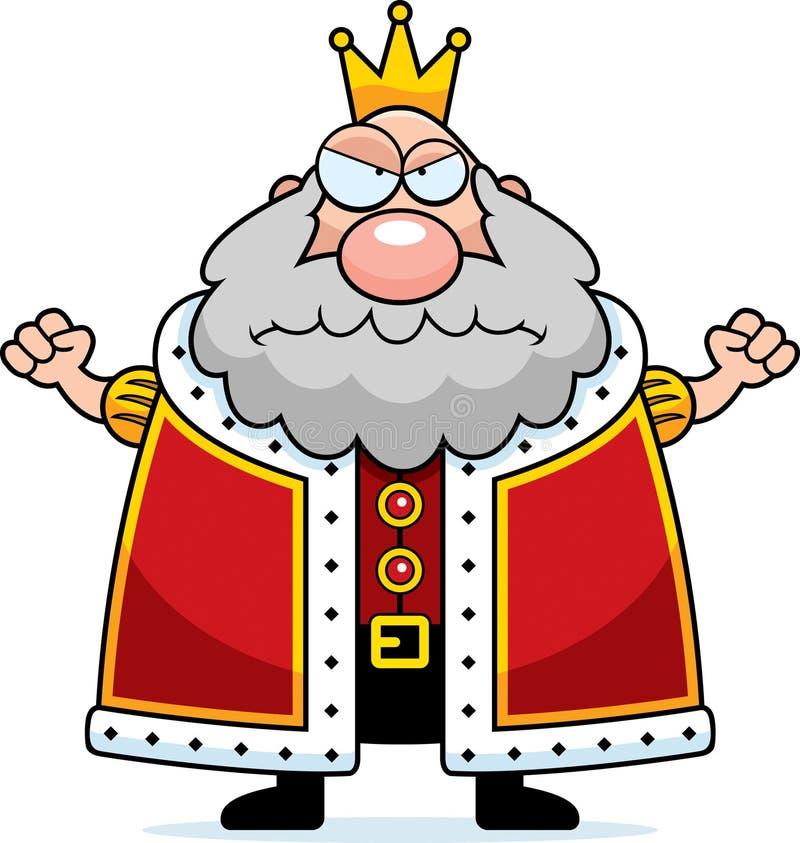 Beeldverhaalkoning Angry royalty-vrije illustratie