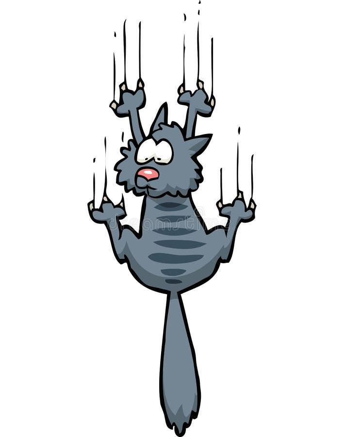 Beeldverhaalkrabbel gekrabde kat stock illustratie