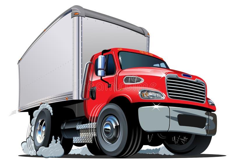 Beeldverhaallevering/ladingsvrachtwagen stock illustratie