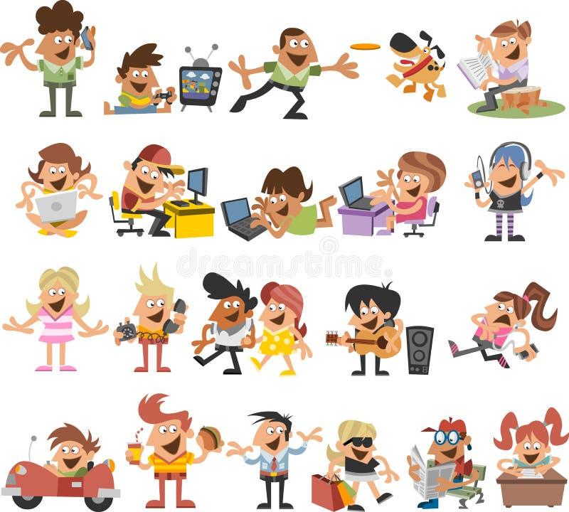 Download Beeldverhaalmensen vector illustratie. Illustratie bestaande uit gelukkig - 54084693