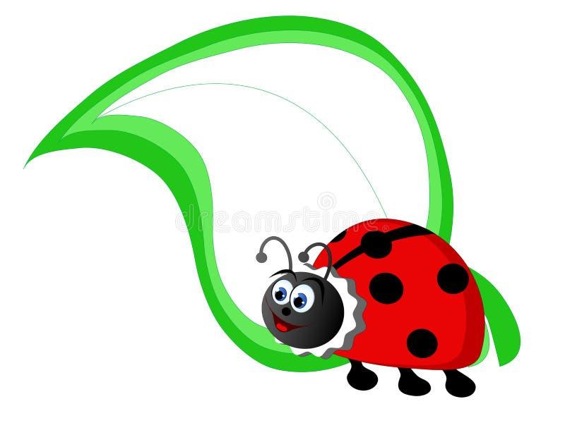 Beeldverhaalonzelieveheersbeestje royalty-vrije illustratie