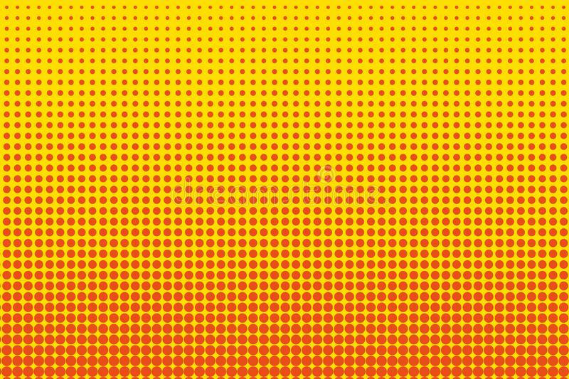 Beeldverhaalpatroon met cirkels, punten, punten Halftone gestippelde achtergrond pop-artstijl Vector illustratie royalty-vrije illustratie