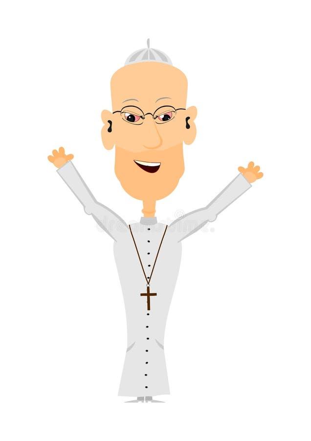 Beeldverhaalpriester royalty-vrije illustratie