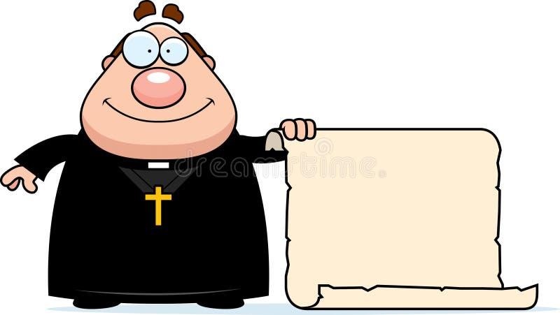 Beeldverhaalpriester Sign royalty-vrije illustratie
