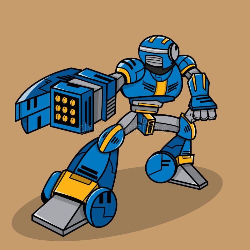 Beeldverhaalrobot stock illustratie