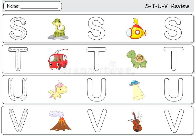 Beeldverhaalslang, onderzeeër, trolleybus, schildpad, eenhoorn, ufo, volc royalty-vrije illustratie