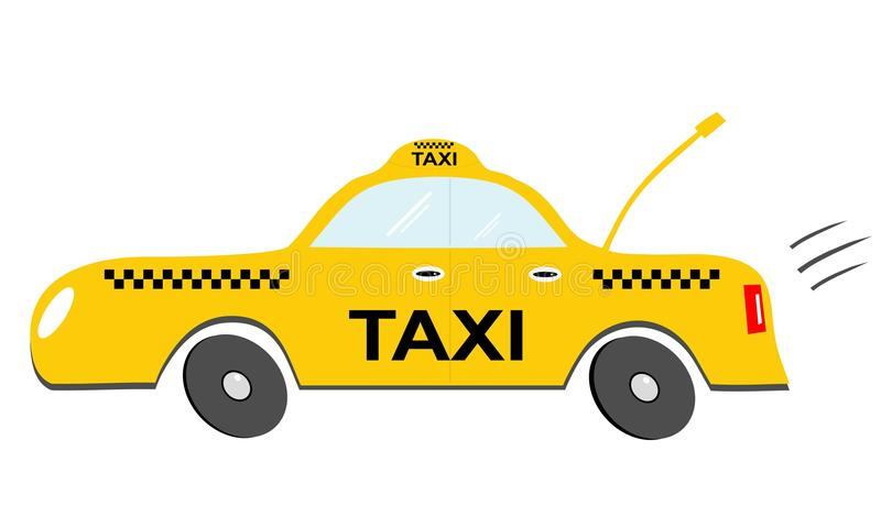 Beeldverhaaltaxi stock illustratie