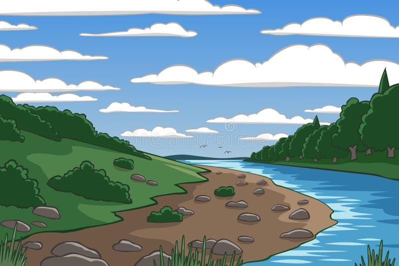 Beeldverhaalvallei royalty-vrije illustratie