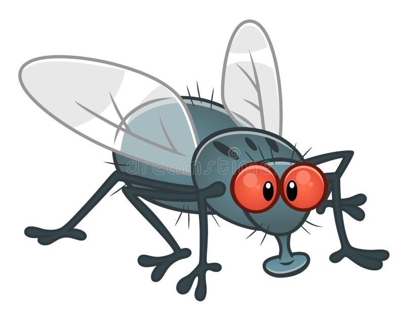 Beeldverhaalvlieg vector illustratie