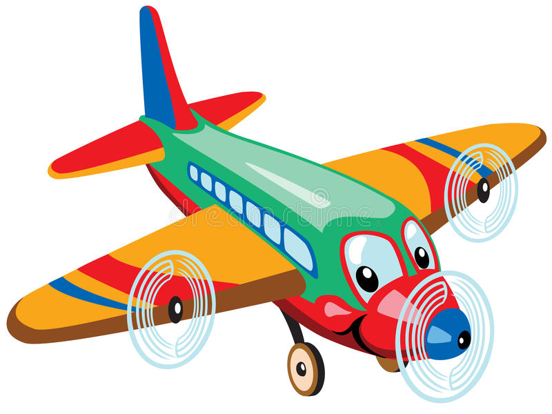 Beeldverhaalvliegtuig stock illustratie