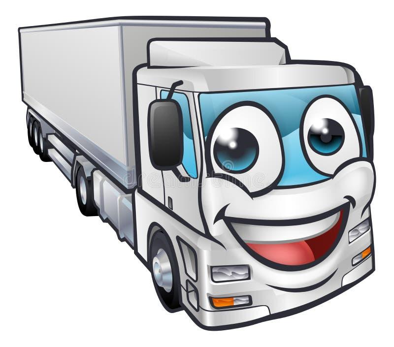 Beeldverhaalvrachtwagen Lorry Transport Mascot Character royalty-vrije illustratie