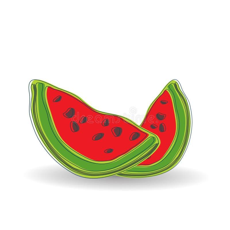 Beeldverhaalwatermeloen stock afbeelding