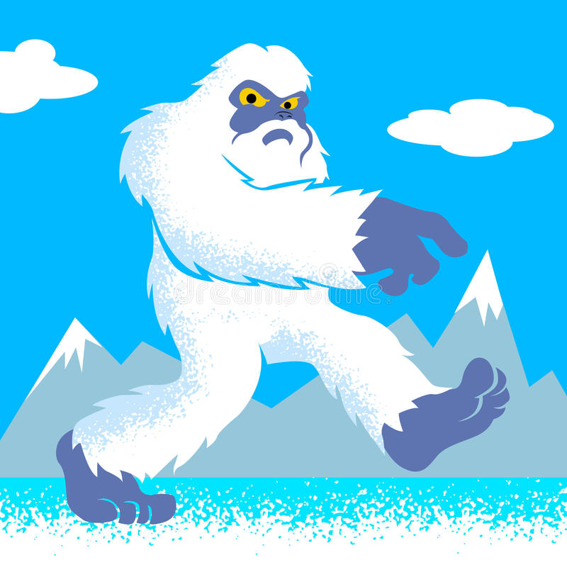 Beeldverhaalyeti grappige yeti  yeti illustration  vector illustratie