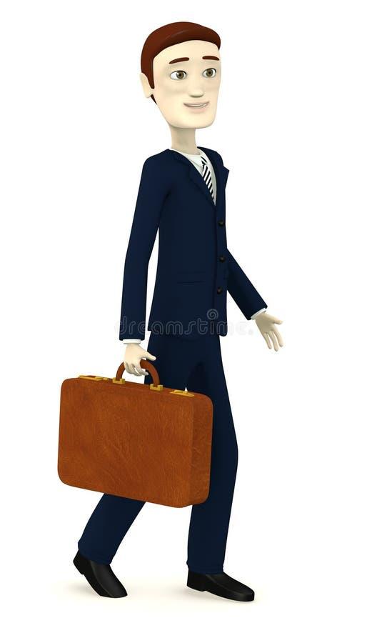 Download Beeldverhaalzakenman Met Koffer Stock Illustratie - Illustratie bestaande uit kleren, koffer: 29505172