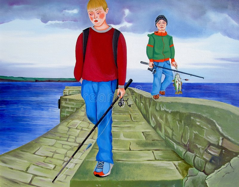 Download Been Fishing stock illustration. Image of recreation, anglers - 93353