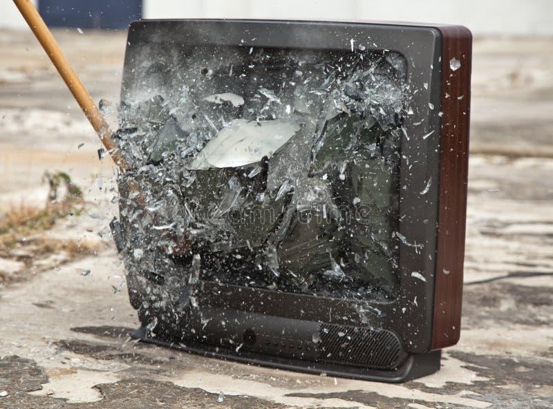 Beenden Sie Ihr Fernsehen stockfoto