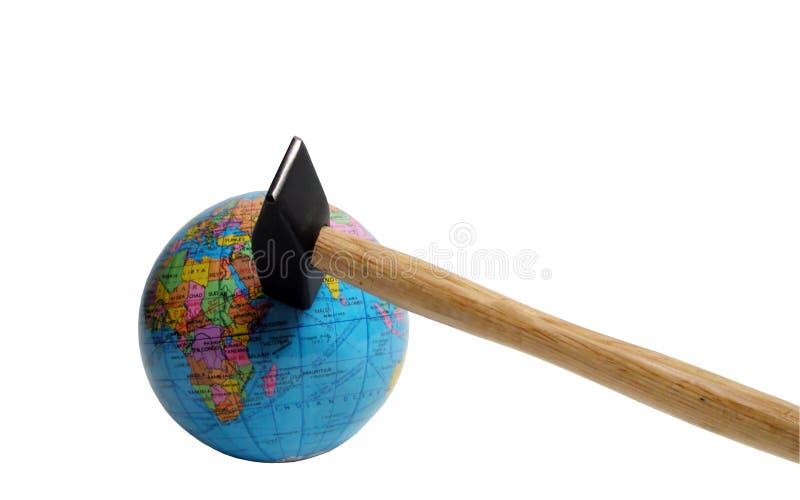 Beenden Sie nicht die Erde!! - Ausschnittspfad stockbild