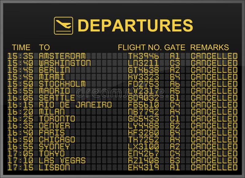 Beendete Flüge vektor abbildung