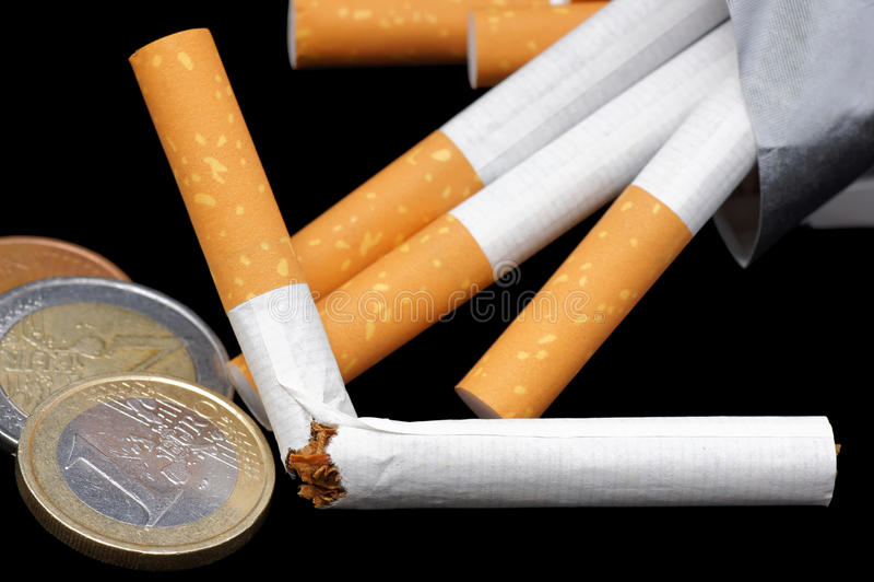 Beendetes Rauchen. lizenzfreies stockfoto