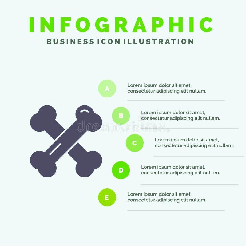 Beengezondheid, Calcium, Gezonde Beenderen, Reumatiek Stevig Pictogram Infographics 5 de Achtergrond van de Stappenpresentatie vector illustratie
